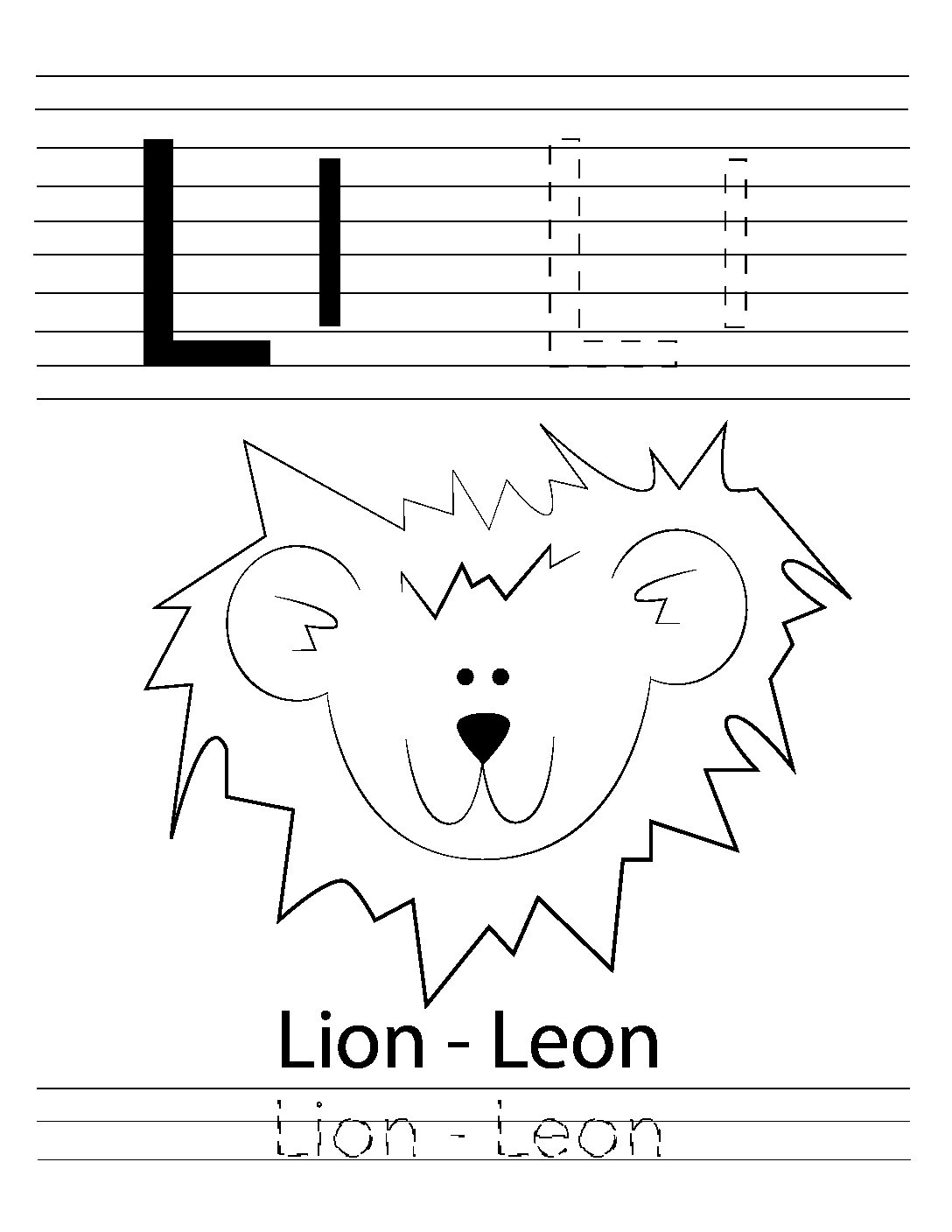 Abc Coloring Pages A To Z Bilingual Animal Worksheets Letters Worksheets Coloring Books For Kidz